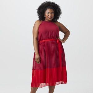Sandra Darren Joanna Sleeveless Dress Magenta/Red